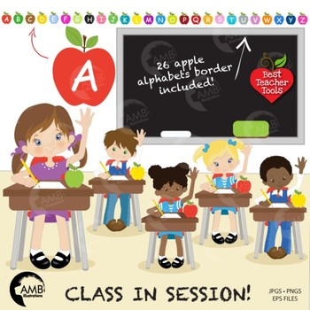 Clipart, Classroom in Session Student Clipart, BACK TO SCH