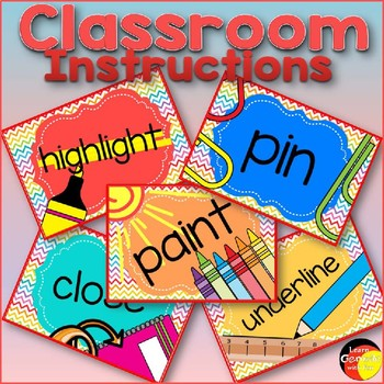 Classroom instructions- Pictures / Posters