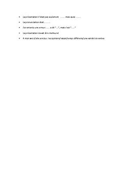 Classroom instructions and peer assessment