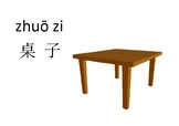 Classroom items in Chinese Mandarin