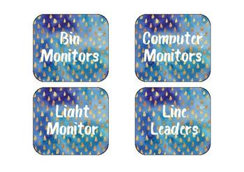 Classroom job labels - printable