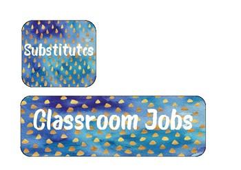 Classroom job printable labels