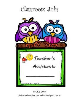 Classroom job titles