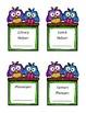 Classroom job titles - owl theme (no clipart)