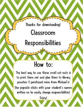 Classroom jobs (FI Specific!)
