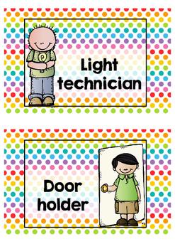Classroom  jobs  -  Polka  dots  multi