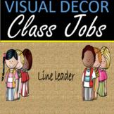 Classroom jobs - Visual classroom decor burlap