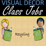 Classroom jobs -  Visual classroom decor sandy