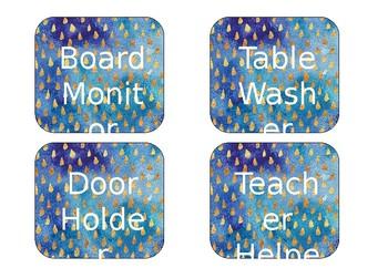 Classroom jobs - editable printable