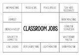 Classroom jobs poster - editable