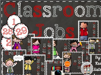 Classroom jobs red and black!