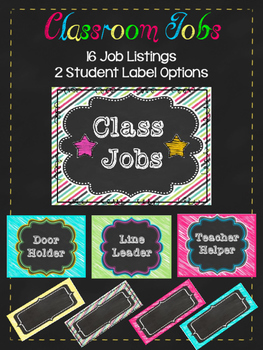 Classroom jobs- student name option