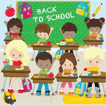 Classroom kids commercial use, graphics, digital clip art, fair - CL899