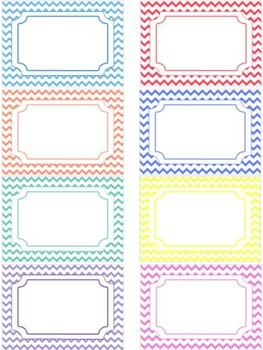 Classroom labels - Name tags - Chevron (Editable)