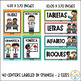 Classroom labels and centers in Spanish - Editable nametags and desk plates