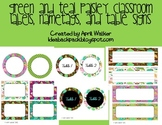 Classroom labels and table signs - Paisley themed