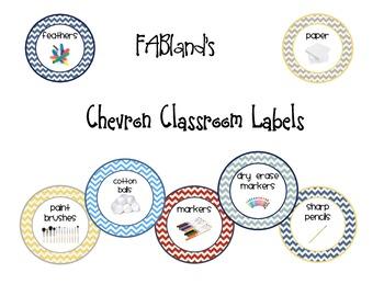 Classroom labels chevron