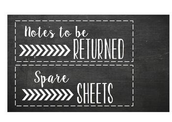 Classroom labels (chalkboard cursive themed)
