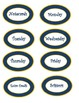 Classroom labels in Blue and Gold