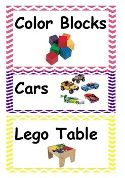 Classroom labels - with squiggly borders