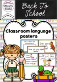 Classroom language posters - ESL Newcomer phrases