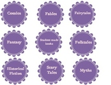 Classroom library labels- purple