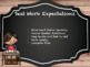 Classroom management School-Wide Expectations