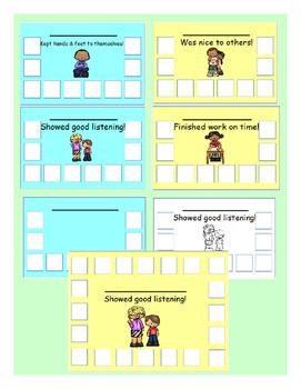 Behavior sticker chart reward system