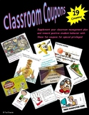 Classroom management coupon pack - student passes - reward