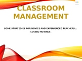 Classroom management: strategies based on how the teacher'