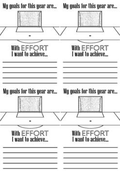 Classroom management student challenging behaviour goal setting soccer worksheet