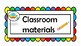 CLASS MATERIALS  labels&sings with pictures Space-Back to school!
