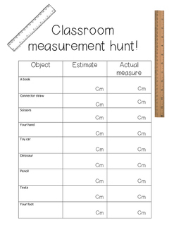 Classroom measurement hunt