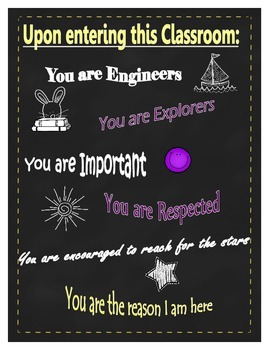 Classroom motivational poster