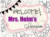 Classroom name tag- editable!