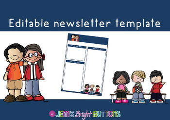 Classroom newsletter template - editable