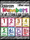 Classroom number posters (with ten frames!)