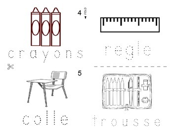 Classroom objects FRENCH Workbook