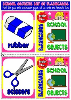 Classroom objects flashcards