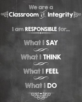 Classroom of Integrity Poster