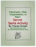 Free Secret Santa Holiday Activity