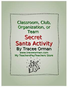 Free Secret Santa Holiday Activity