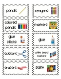 Classroom organization labels- Thin frame special order extended edition