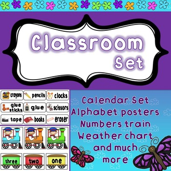 Classroom Bundle - decoration and organization