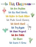 Classroom posters (Llamas and Cacti)