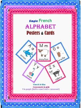 Classroom posters and cards- French Alphabet/Les Affiches de l'alphabet Français