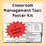 Classroom posters - for classroom management; middle grades/secondary