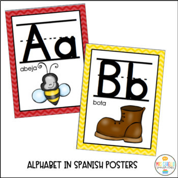 Posters in Spanish - Colors, numbers, alphabet, feelings and shapes