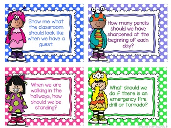 Editable Classroom Procedures and Routines Task Cards
