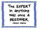 Classroom quotes with blue boarder (landscape)
